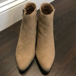 Just Fab - Taupe Booties Size 8